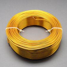 2mm Aluminio Craft floristería Alambre Fabricación de Joyas Golden Rod Oro 3m longitudes