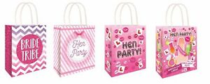 6 x Hen Night PARTY BAGS Bride to Be Girls Ladies Night Favours Hen Party Do