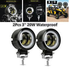 "2Pcs 3"" 20W LED Work Light Round Spotlights Off-road Driving Fog Lamp Waterproof"