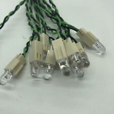 New Listing10 Pc Lot 12v White Clear Led Light Bulb With Attached 8 Wire Pc At Led 10pcs 5v
