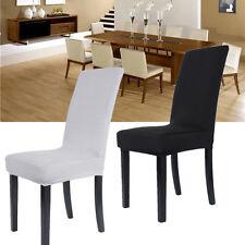 2PCS Housse Chaise élastique Extensible Soirée Salle A Manger Fête Mariage