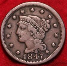 1847 Philadelphia Mint Copper Braided Hair Large Cent