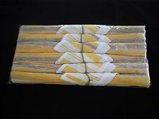 Balinese Placemats Coasters  Yellow White Tan Tableware Dinning Set of 6