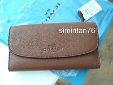 Coach Pebbled Leather Checkbook Wallet Clutch F52715 NWT