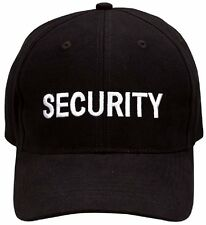 a09a3bdc3fa Security Supreme Low Profile Insignia Cap Black 9282 Rothco