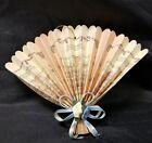 "Paper Fan: Joy to The World Christmas Tree Ornament Vintage 8""x5"""