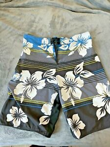Men BURNSIDE Board Shorts Beach Surf Swim Trunks Size 34