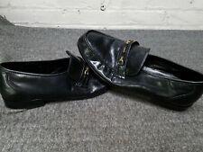 Bostonian Black Leather Slip On Loafer Shoes Mens Size 13
