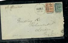INDIA COVER (PP0407B) 1876  QV 2A+4A  HUBLI TO LONDON