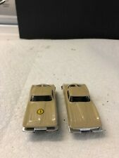 New ListingVintage Pair Aurora Ho 1963 Cream Colored Corvette Stingray Slot Cars