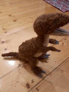 Hansa Velociraptor Dinosaur Realistic Plush Handmade 48cm