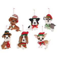 "New 3720153 Raz 7.5"" Dog Ornament Pug Boxer Beagle Chihuahua Corgi Hound New!"