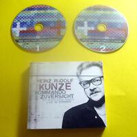 """2 CDs """" HEINZ RUDOLF KUNZE - KOMMANDO ZUVERSICHT """" 37 TRACKS LIVE (BRILLE)"""