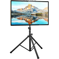 """Tripod TV Stand with Tilt Mount for 37""""-70"""" Flat/Curved Screen TVs"""