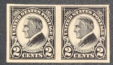 Travelstamps: 1923 US Stamps Scott #611 2c Imperf Mint Pair NG HARDING