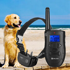 Electric Remote Dog Training Shock Collar Waterproof Rechargeable LCD US