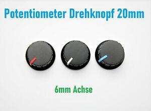 Potentiometer Drehknöpfe Achse 6mm Poti Knopf Regler Drehknopf  Einstellknopf