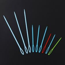 9Pcs Plastic Crochet Hooks Knitting Needles Sewing Tools Needlework Craft