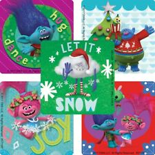 20 Trolls Friends Christmas STICKERS Party Favors Supplies Treat Bags Holiday