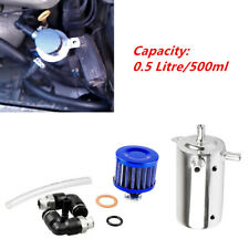 Car SUV Truck 0.5L Aluminum Oil Catch Can Reservoir Tank with Breather Filter