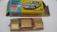 CORGI 245 BUICK RIVIERA EXCELLENT ORIGINAL CAR IN VERY GOOD ORIGINAL BOX +BADGE