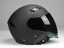 Jethelm Langvisier Jet200 Motorradhelm Roller Helm Matt Schwarz XS S M L XL XXL