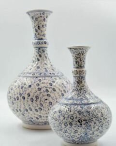 Handmade Turkish Ceramic Vase, Centerpiece Vase.
