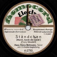 """78er Schubert-Lieder Hans Heinz Bollmann """"Horch, horch die Lerch'"""""""