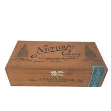 Vintage Cigar Box Nutura Cedarap Corona Chicas Circa 1935 Mint Collector Quality