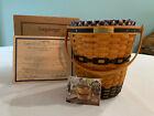 Longaberger Collectors Club 2001 JW Miniature Banker's Waste Basket & Lid