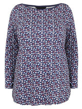 New YOURS CLOTHING Spring Blue Ditsy Floral COTTON Top PLUS Size 22-24 CURVE