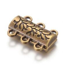Zamak Magnetverschluss rechteckig ID 6x2mm gold Leder Bänder Mengenauswahl