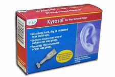 KYROSOL EAR WAX REMOVAL DROPS PIPETTES 20 PACK-REFILLS FOR KYROSOL EAR SYRINGE