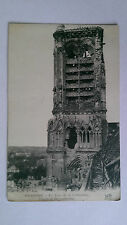 WW1 Soissons France B&W Postcard Cathedral Tower