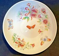 "Limoges France Floral Porcelain Bowl 5"" Candy Trinket Dish Butterfly Vintage"