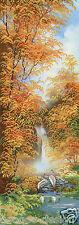Stickpackung Kreuzstich Perlen Wasserfall 20x62 cm Herbst Waterfall DIY #HHK6055