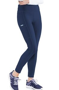 "Med Couture Scrubs 5736 Elastic Yoga Waist Leggings Scrub Pant in ""Navy"" Size S"