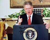 """42nd U.S.President"" Bill Clinton Hand Signed 10X8 Color Photo COA"