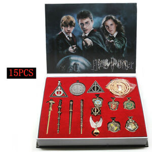 15P Collect Gift Box Magic Wands Set Harry Potter Voldemort Hermione Dumbledore