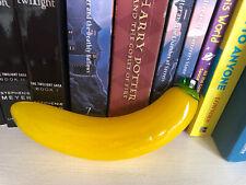 Vtg Murano Style Art Glass Decorative Yellow BANANA Fruit Life Size Paperweight