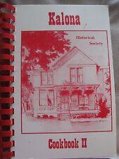 Kalona Historical Society II Cookbook Kalona, Iowa - HUGE - Chicken Pecan Recipe