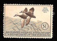 RW7 = Mint-OG-H 1940 U.S.Duck Stamp ~ $1 Mallard Ducks