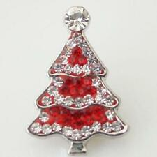 RED & WHITE CHRISTMAS TREE,  18mm, FITS GINGER SNAPS  MAGNOLIA & VINE Interchang
