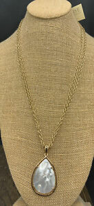 Barse Mother of Pearl Teardrop Necklace- Bronze- NWT