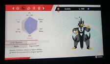 Urshifu Singolcolpo 6 Iv Allegra Br Pokemon Spada Scudo + Tappo Oro