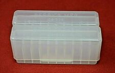 2 x .243 / .308 / 6.5 Crmr Ammo Box / Case / Storage 20 Rnd Boxes Clear Color