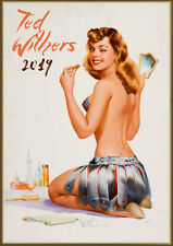2019 Wall Calendar  [12 x A4] Pinup Sexy Girls Ted Withere Vintage Lingerie M722