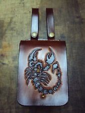 Knight dedicated Scorpio waist hanging leather bag custom made your own picture