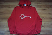 CINCINNATI REDS MLB MAJESTIC AC CHANGE UP 1/4 ZIP AUTHENTIC HOODED SWEATSHIRT