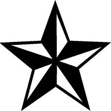 Nautical Star vinyl decal/sticker navy sailor tattoo punk rock bike skate surf
